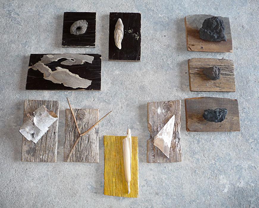 Fundstücke auf Holz